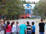 Полиция и  пожарные в лагере